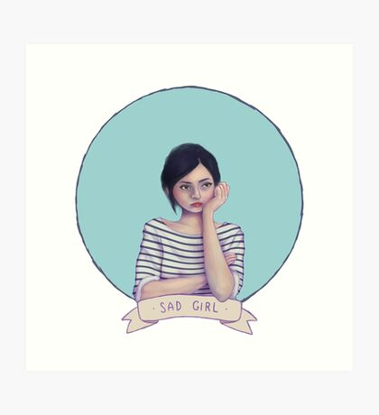 Sad Girl Art Print