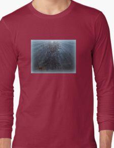 Snow/Deer Long Sleeve T-Shirt