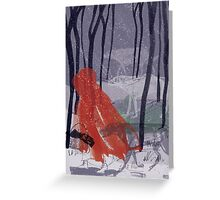 A walk with Wolves Greeting Card
