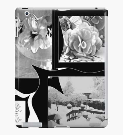 Snow Scene and Begonias  iPad Case/Skin