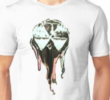 Melting atomic clock  black and white invert Unisex T-Shirt