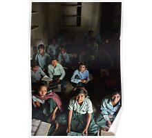 Village School, Rajasthan Poster