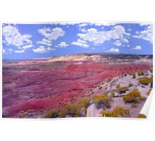 Painted Desert and Clouds Poster