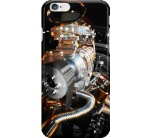 Hot rat rod supercharger iPhone Case/Skin