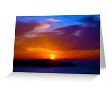 Greece and Sunsets Greeting Card
