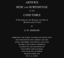 Expert at the Card Table by S. W. Erdnase (white text) by SWErdnase