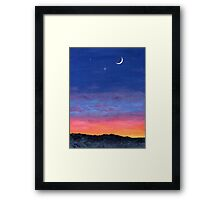 Day To Night Moonlit Sunset Framed Print