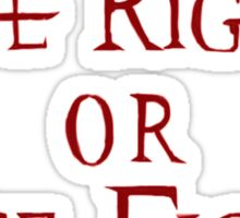 Mage Rights Or Mage Fights Sticker