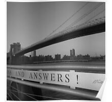 rivers run. dumbo, nyc Poster