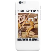 For Action - Enlist In The Air Service iPhone Case/Skin