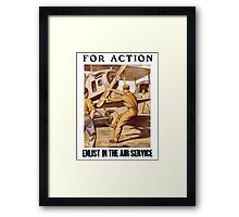 For Action - Enlist In The Air Service Framed Print