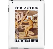 For Action - Enlist In The Air Service iPad Case/Skin