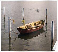 0022  Wooden Boat on Lake Illawarra Poster