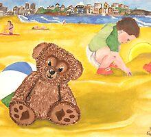 Teddy on Bondi Beach by Darren Stein