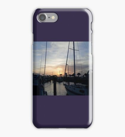 Boats in the Harbor iPhone Case/Skin