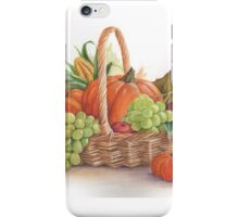 Thanksgiving basket iPhone Case/Skin