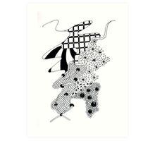 Flowing river Art Print