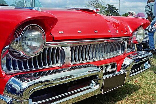 restored red ford mercury by sharpbokeh