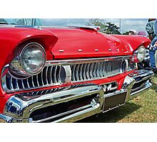 restored red ford mercury Photographic Print