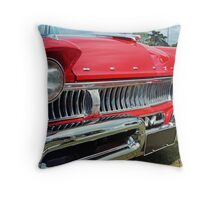 restored red ford mercury Throw Pillow