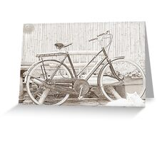 Vintage Ladies Raleigh Bicycle Greeting Card