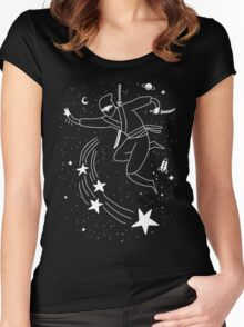Space Ninja Women's Fitted Scoop T-Shirt