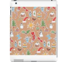 Christmas Icons on Kraft iPad Case/Skin