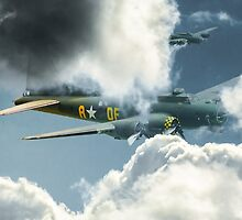 B17 in the clouds by peter wyatt