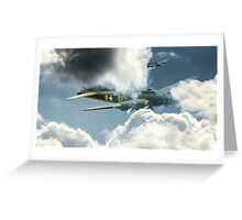 B17 in the clouds Greeting Card