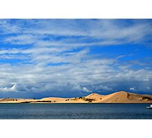 Silver Lake Sand Dunes on a Late Summers Day Photographic Print