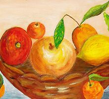 Fruits in a basket by daffodil