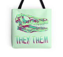 Velociraptor Skull Tote Bag