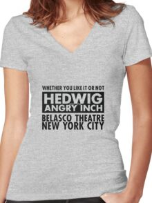 Hedwig Belasco Theatre Women's Fitted V-Neck T-Shirt