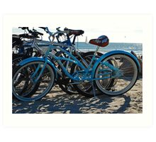 Beach Bikes Art Print