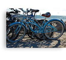Beach Bikes Canvas Print