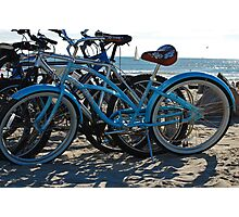 Beach Bikes Photographic Print