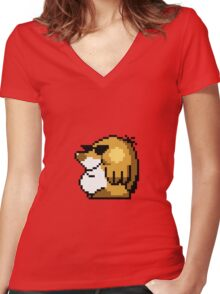 Mega Mole Women's Fitted V-Neck T-Shirt