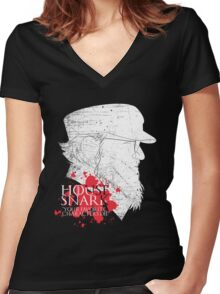 House Snark: Your Favorite Characters Die Women's Fitted V-Neck T-Shirt