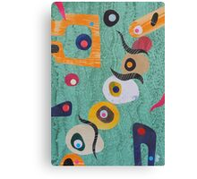 Pebbles And Shapes On Pale Green Canvas Print