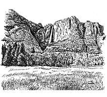 Yosemite Falls, CA by MarkArt