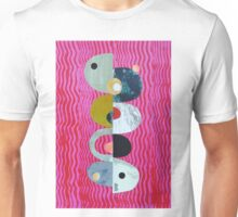 Balance on pink And Red Waves Unisex T-Shirt