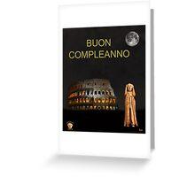 The Scream World Tour Rome Happy Birthday Italian Greeting Card