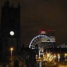 manchester at night by pinkyosborne