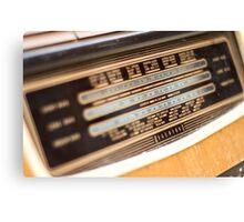 Retro Radio Canvas Print
