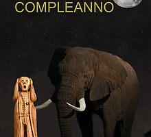 The Scream World Tour African Elephant Happy birthday Italian by Eric Kempson