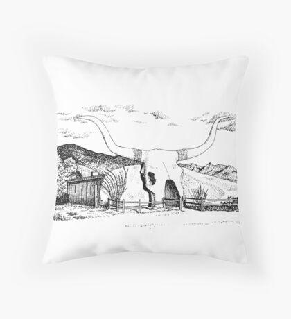 Longhorn Saloon, Arivaca, Arizona Throw Pillow