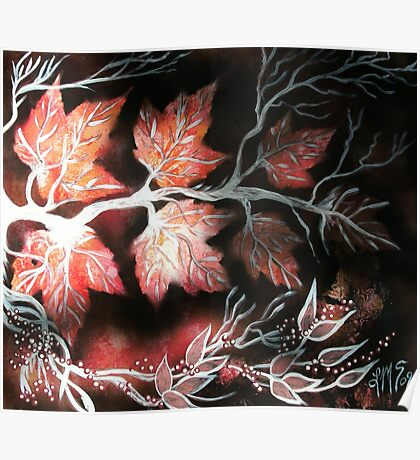 Autumn Maples and Winter Berries Poster