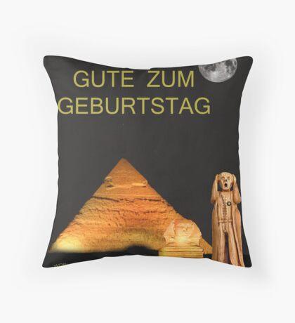 The Scream World Tour Egypt Happy Birthday German Throw Pillow