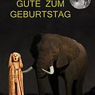The Scream World Tour African Elephant Happy birthday German by Eric Kempson