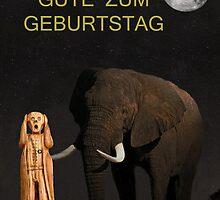 The Scream World Tour African Elephant Happy birthday German by Eric Kempson
